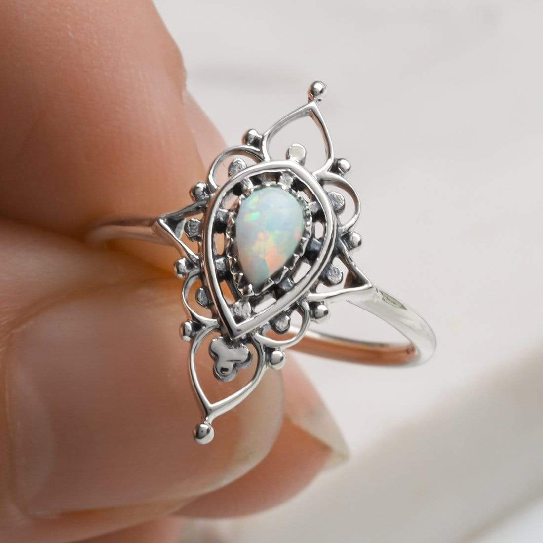 Midsummer Star Ring Majestic Opal Ring