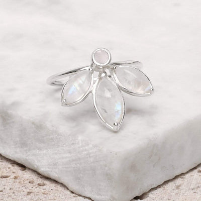 Midsummer Star Ring Marquise Tiara Moonstone Ring