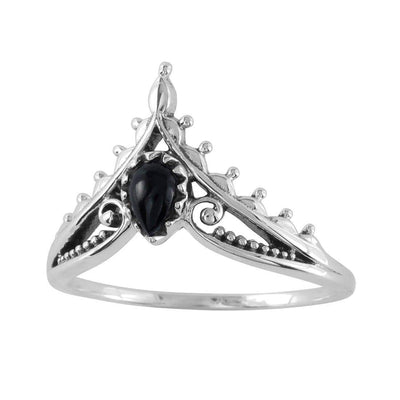 Midsummer Star Ring Microcosm Onyx Ring