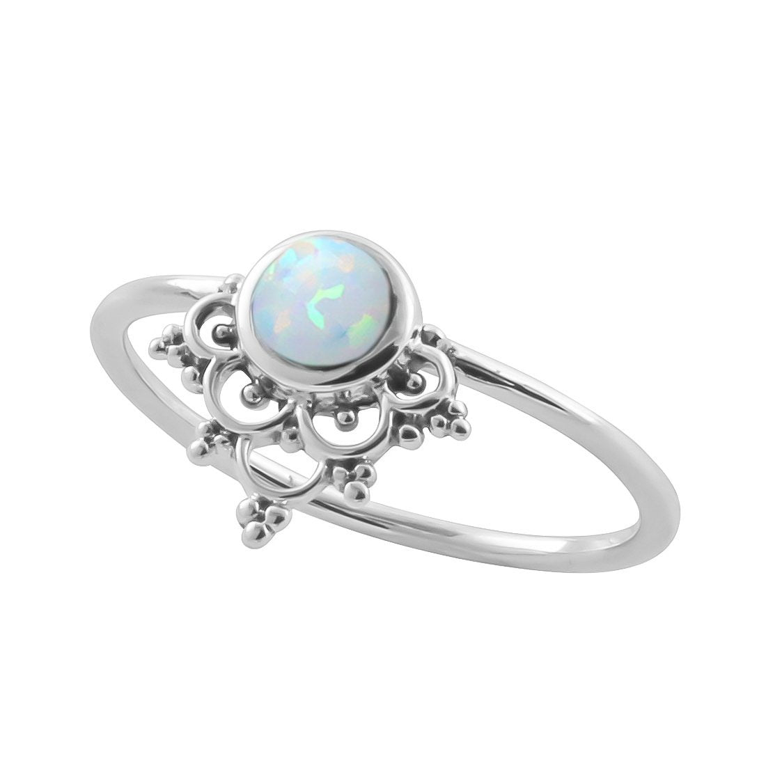 Midsummer Star Ring Mystic River Opal Ring