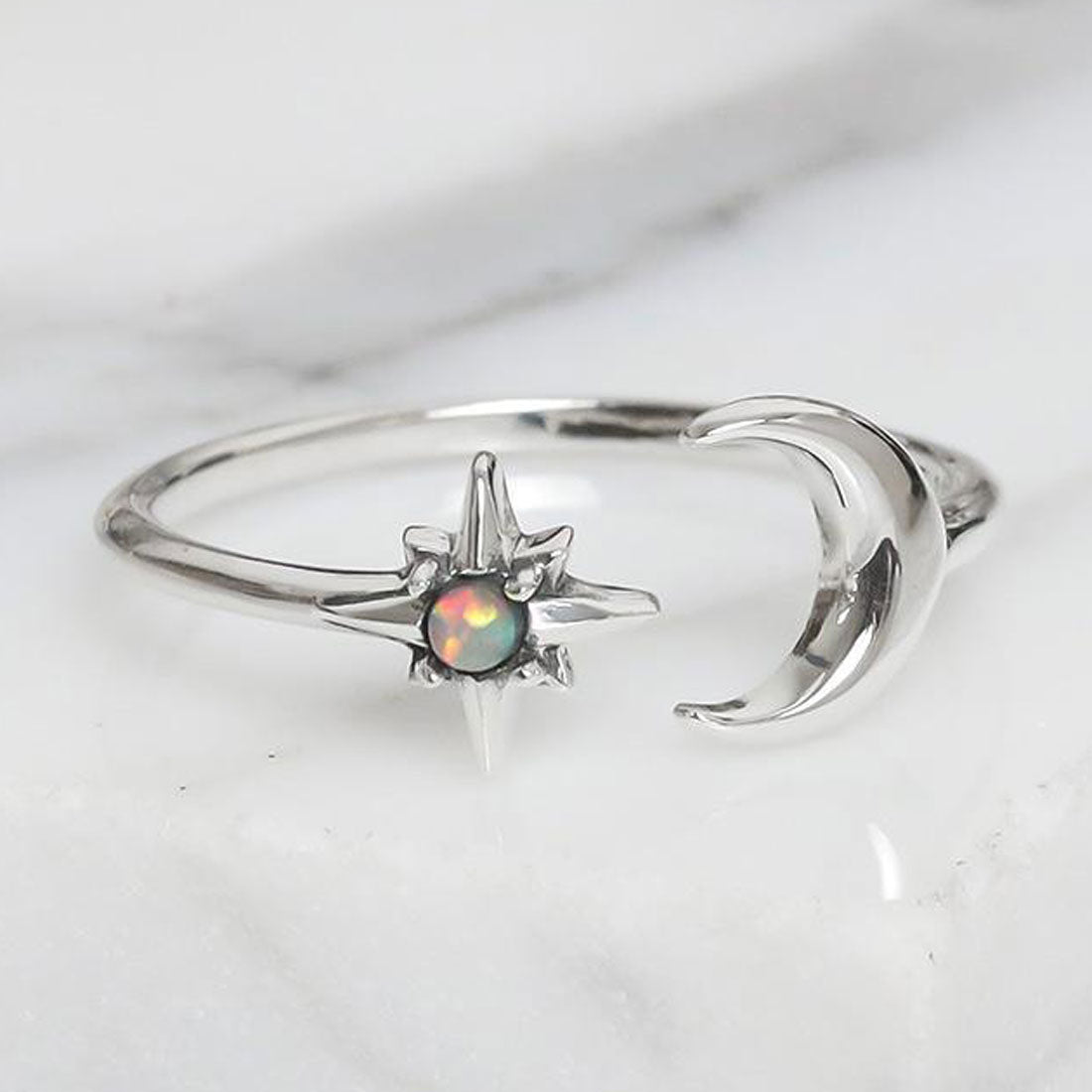 Midsummer Star Ring Nebula Dreams Opal Ring