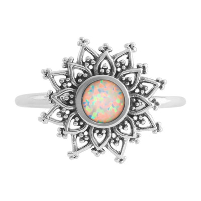 Midsummer Star Ring Opal Gravity Ring