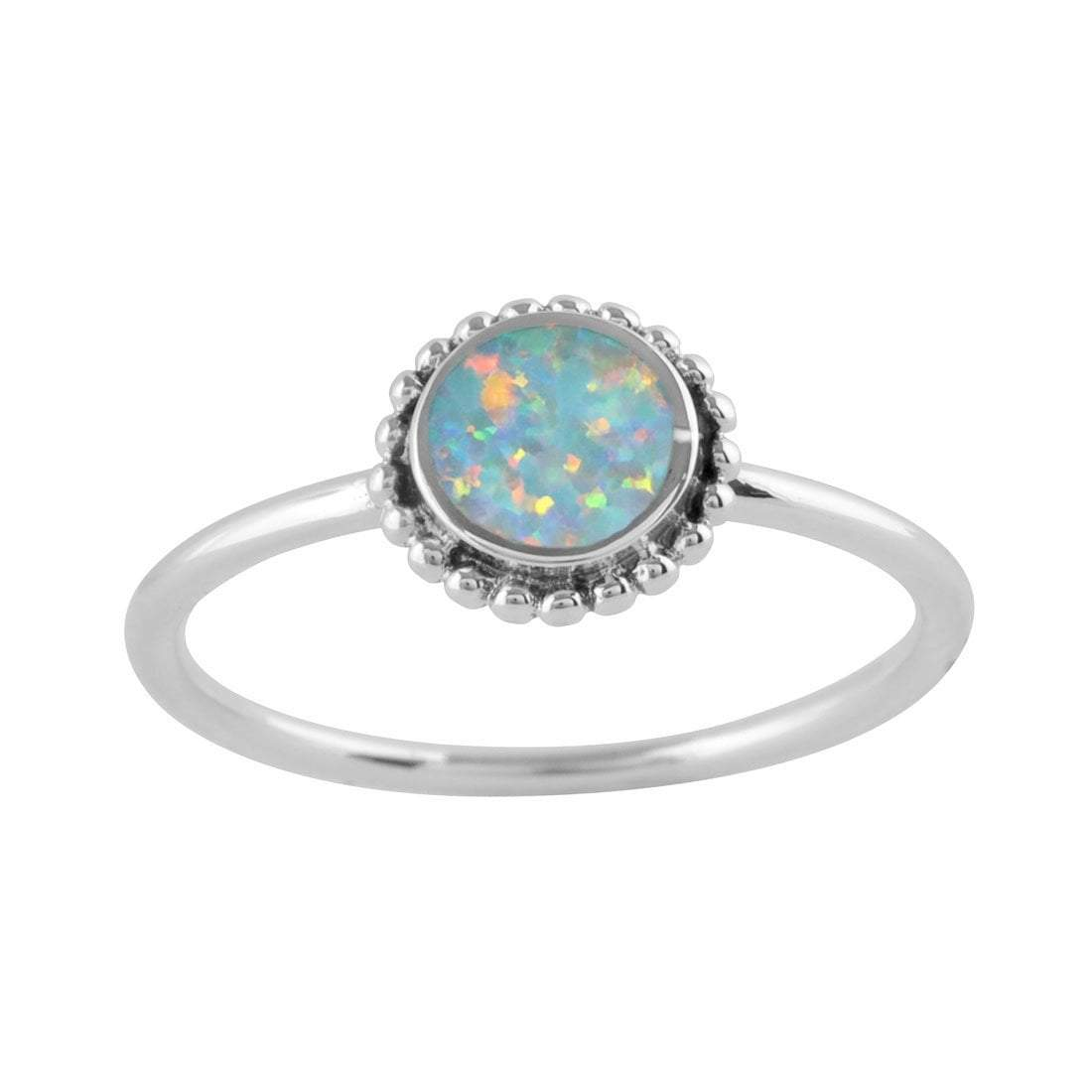 Midsummer Star Ring Opal Sun Ring