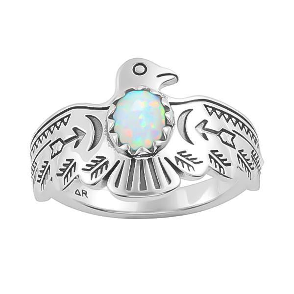 Midsummer Star Ring Opal Thunderbird Ring