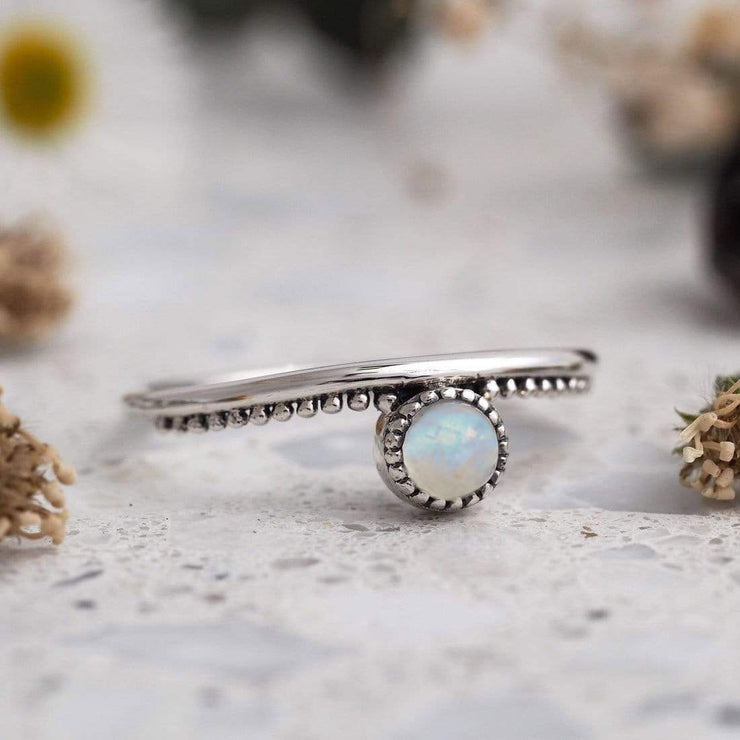 Midsummer Star Ring Parallel Worlds Moonstone Ring