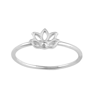 Midsummer Star Ring Praying Lotus Ring