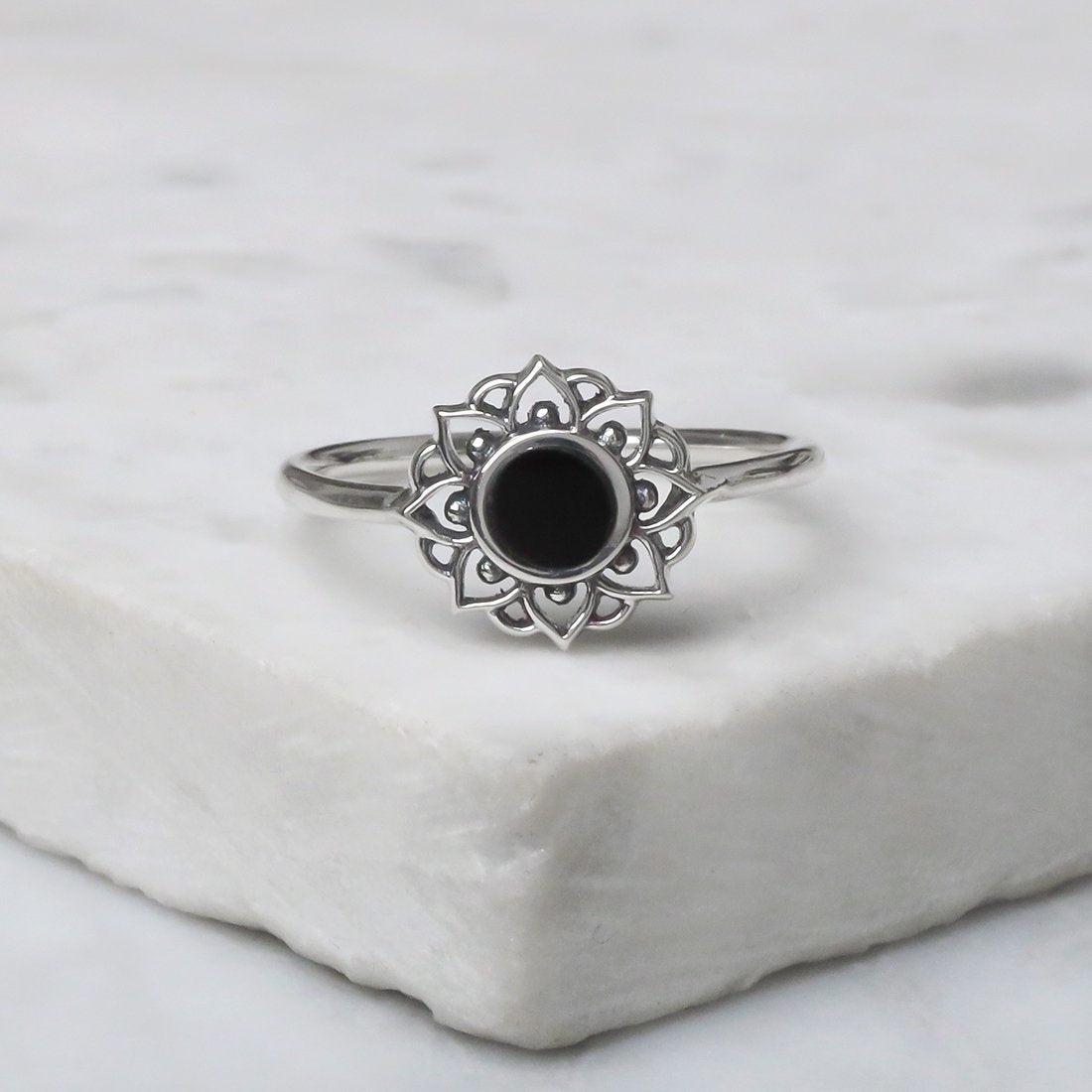Midsummer Star Ring Prismatic Universe Onyx Ring