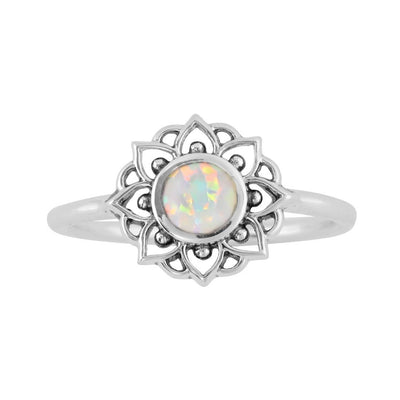 Midsummer Star Ring Prismatic Universe Opal Ring