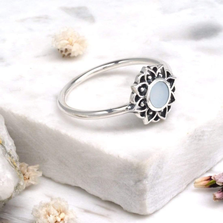 Midsummer Star Ring Prismatic Universe Pearl Ring