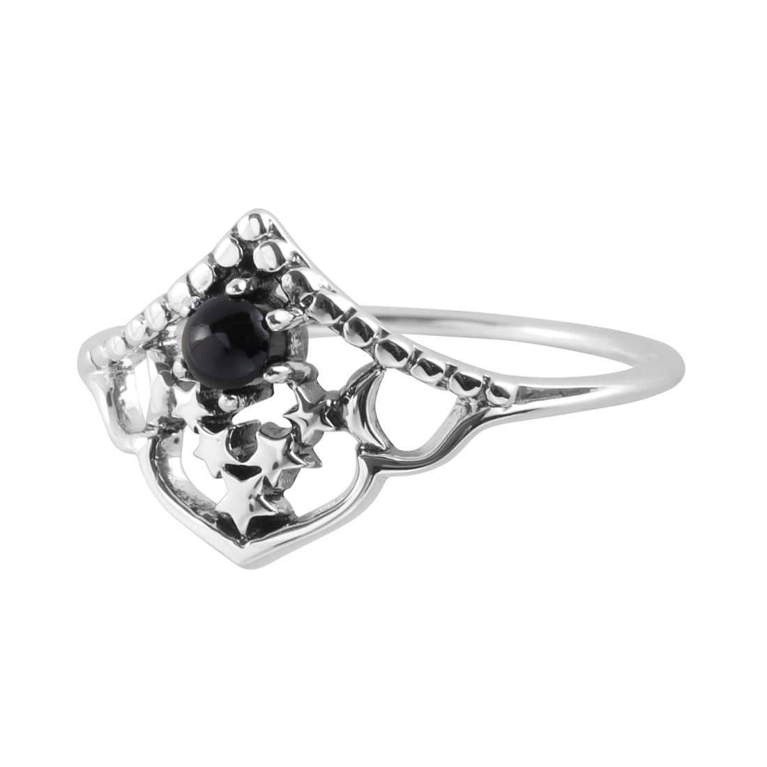 Midsummer Star Ring Space Cluster Onyx Ring