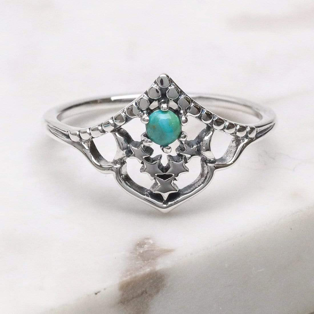 Midsummer Star Ring Space Cluster Turquoise Ring