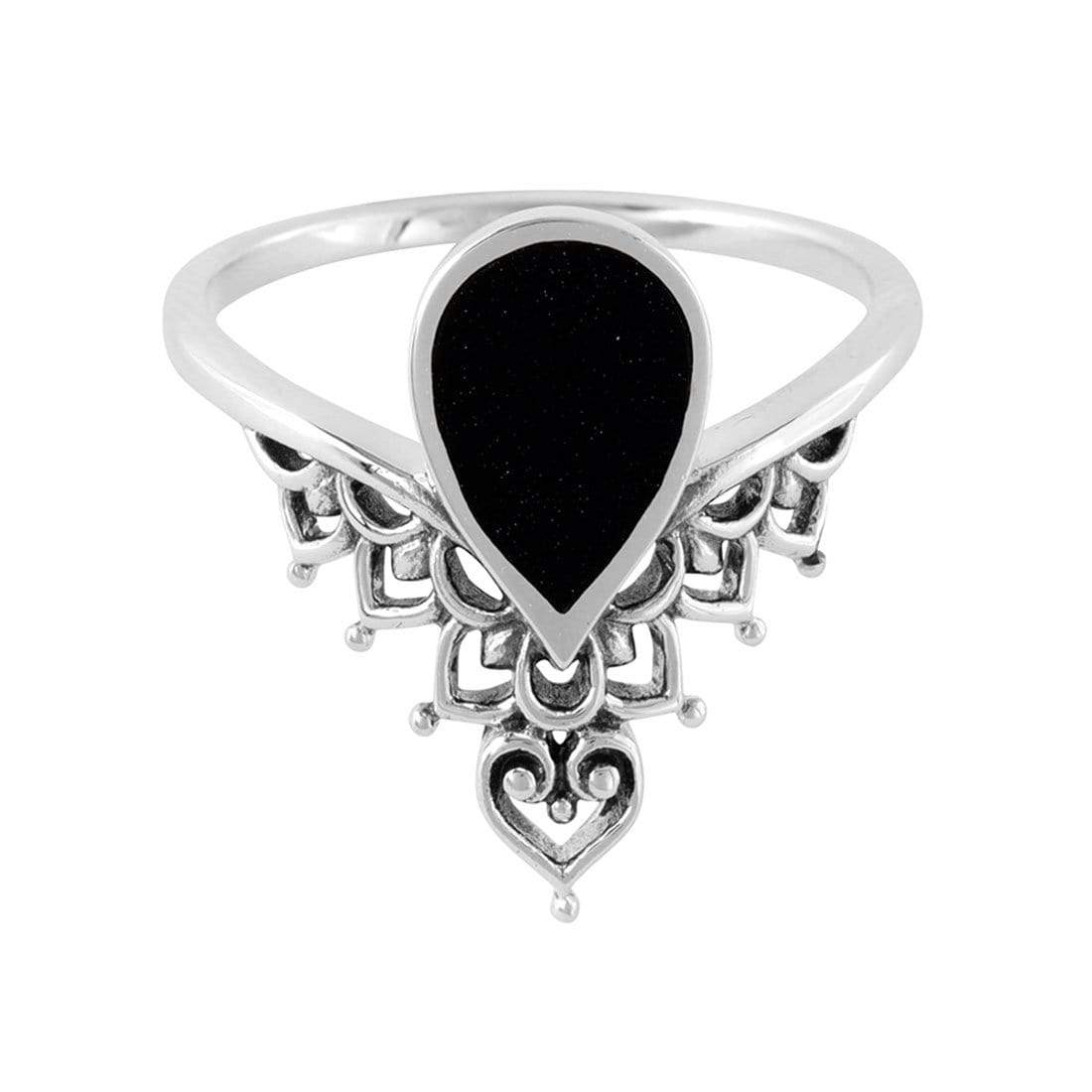 Midsummer Star Ring Spider's Dream Onyx Ring
