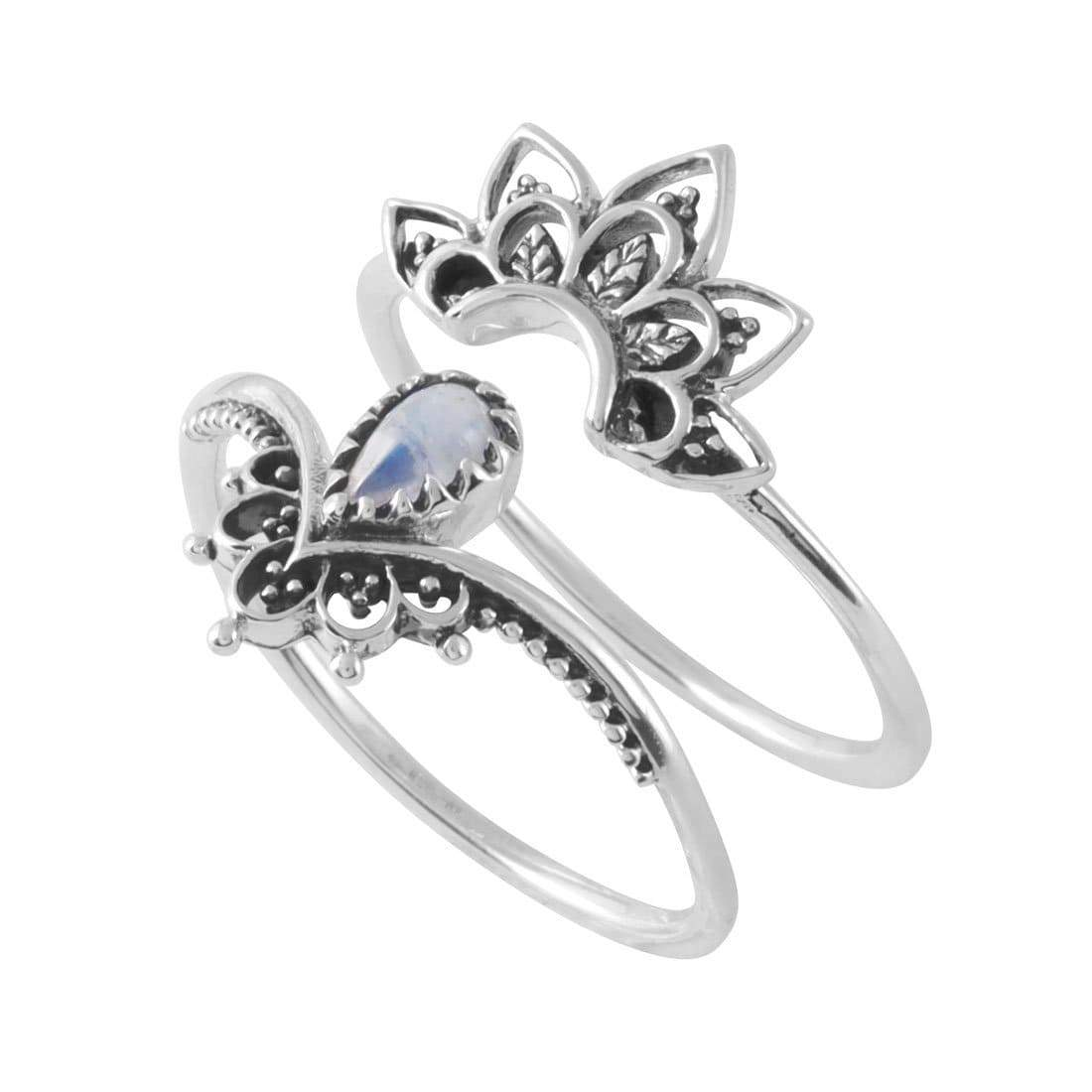 Midsummer Star Ring Sublime Moonstone Ring Set