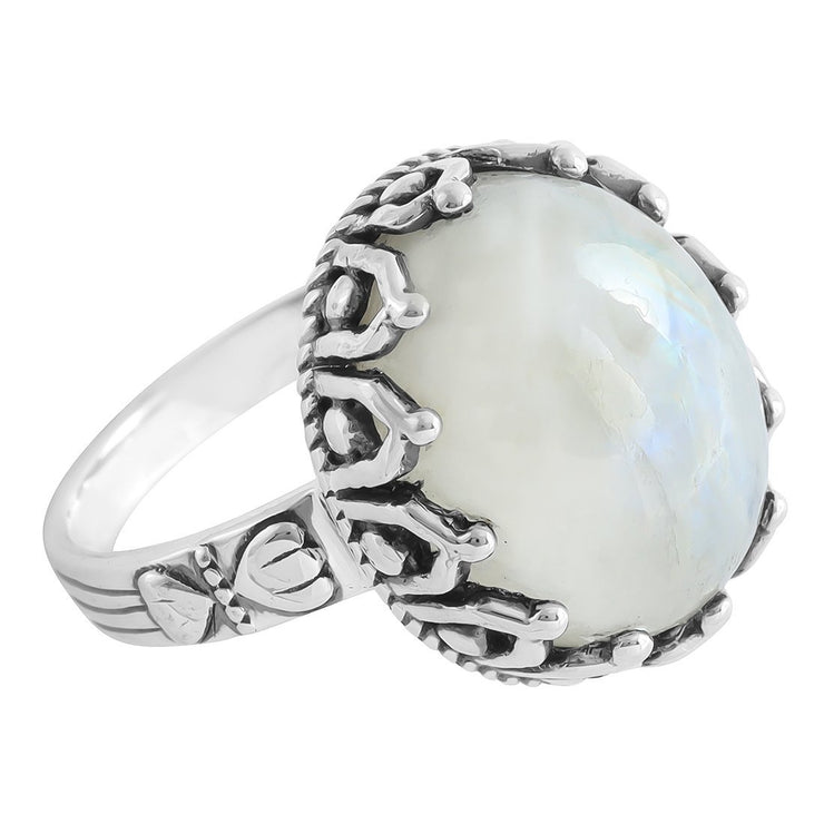 Midsummer Star Ring The Goddess Selene Moonstone Ring
