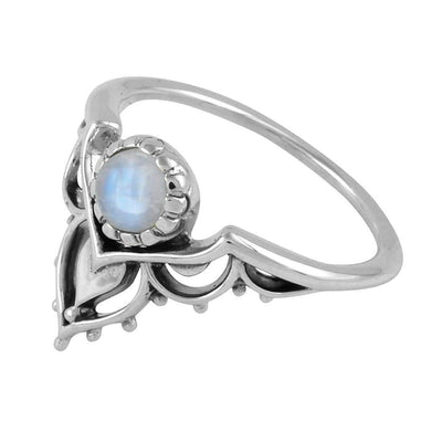 Midsummer Star Ring Transformation Rainbow Moonstone Ring