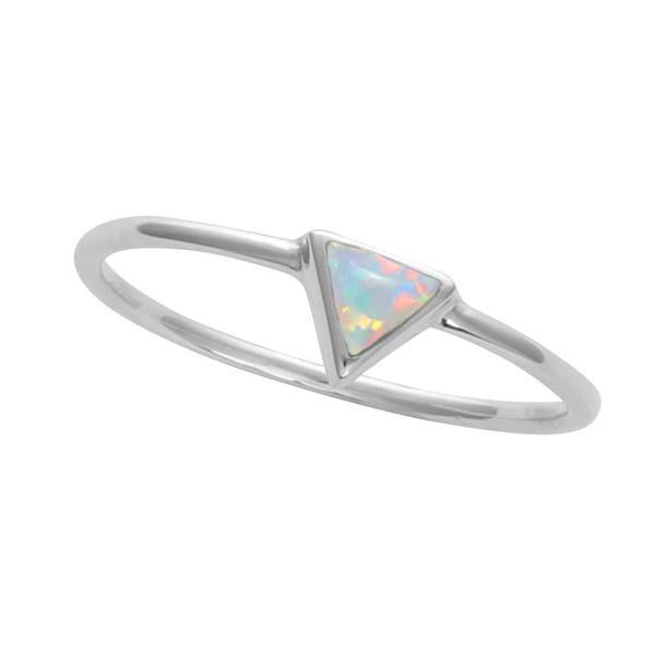 Midsummer Star Ring Triangle Opal Ring