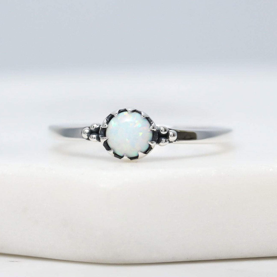 Midsummer Star Ring Urthona Opal Ring
