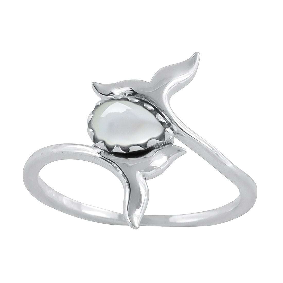 Midsummer Star Ring Whale Tails Pearl Ring