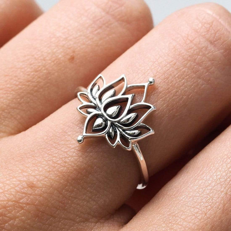Midsummer Star Ring White Lotus Ring