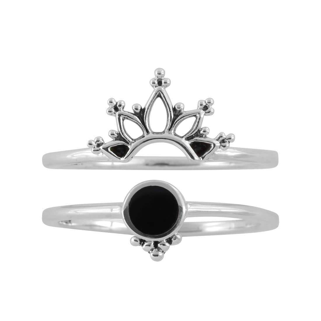 Midsummer Star Ring Wonderland Onyx Ring Set