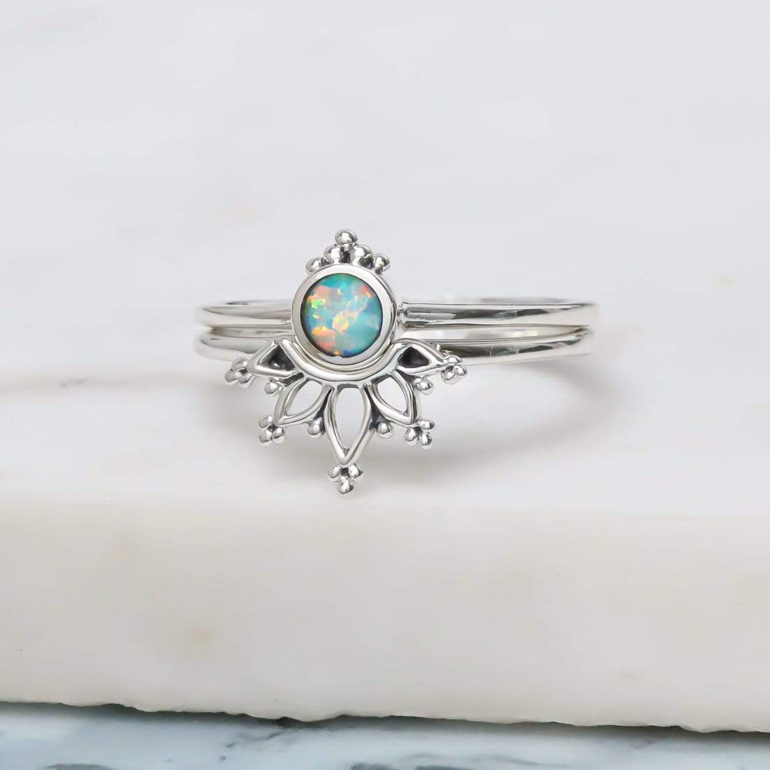 Midsummer Star Ring Wonderland Opal Ring Set