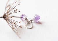 Terra Raw Amethyst Earrings