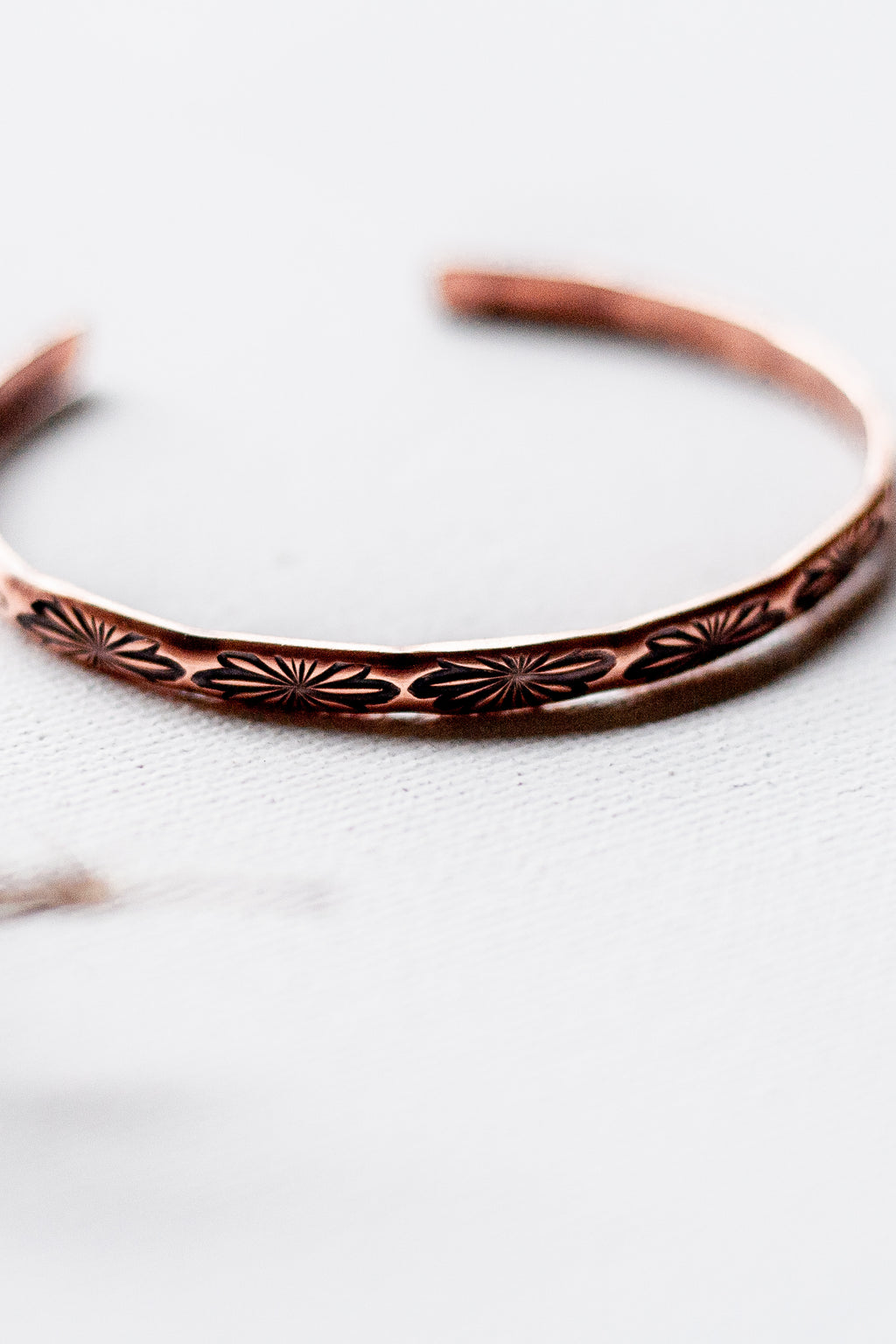 Butterfly Hand Stamped Copper Cuff