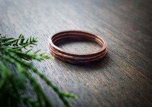 Canyon Stacking Rings -Handmade Copper Stackable Rings - Andewyn Designs