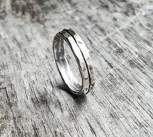 Canyon Road Handmade Sterling Silver Ring Band - Andewyn Designs 5