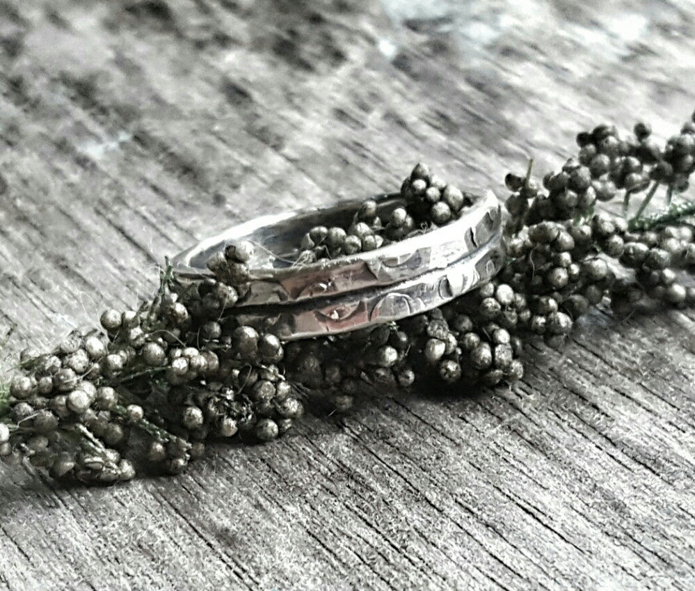 Canyon Road Handmade Sterling Silver Ring Band - Andewyn Designs 3