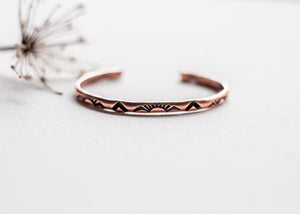 Headed West Copper Cuff Bracelet