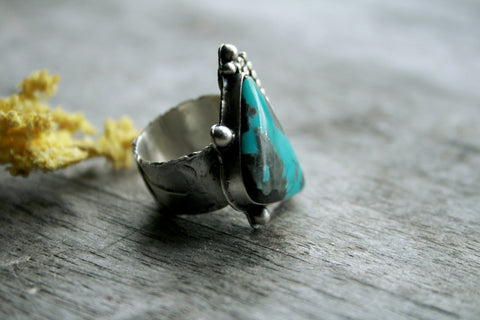 Headed West Campitos Turquoise Ring  Andewyn Designs- Andewyn Designs