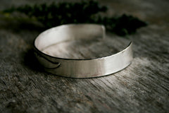 Handmade Sterling Silver Feather Boho Cuff Bracelet - Andewyn Designs 6