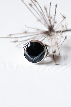 Rhapsody In Midnight Ring II  -  Size 7.75