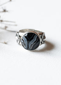 Rhapsody In Midnight Ring III  -  Size 8.75