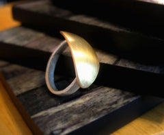 Shield Sterling Silver and Brass Shield Ring - Andewyn Designs 2