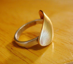 Shield Sterling Silver and Brass Shield Ring - Andewyn Designs 4