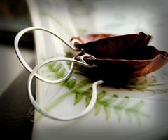 Garden Path Handmade Heat Treated Copper Earrings With Sterling Silver Ear Wires - Andewyn Designs