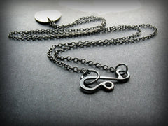 Handmade Brass and Sterling Silver Mixed Metal Personalized Necklace - Andewyn Designs
