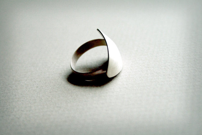 Handmade Sterling Silver Shield Ring - Andewyn Designs 3
