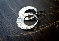 Handmade Hammered Brass Open Circle Earrings - Andewyn Designs 2