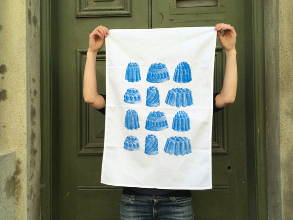 Blueberry jelly tea towel
