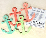 Recycled Ideas Favors plantable seed paper pastel anchors
