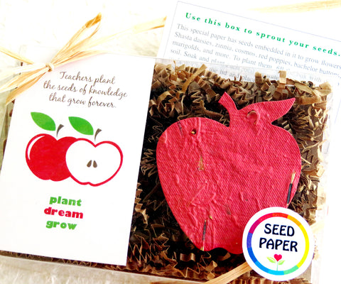 Teacher Gift - Seed Paper Apples