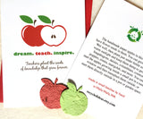 plantable seed paper apple card for teachers