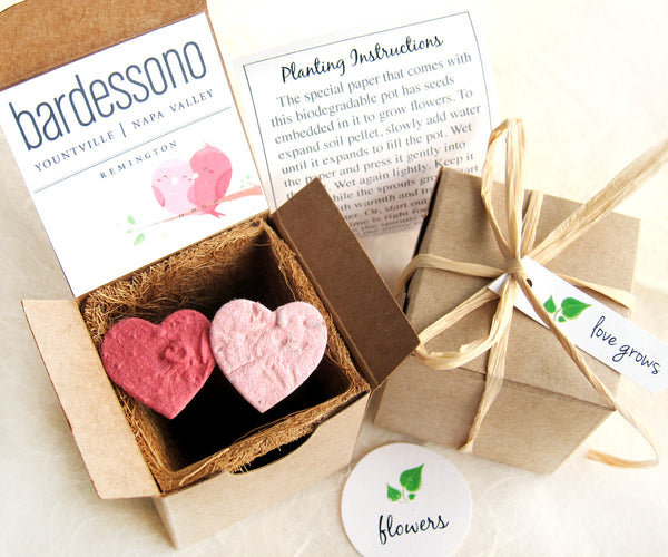 90 Plantable Seed Paper Letters Wedding Box Kit Recycled Ideas
