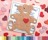 Recycled Ideas Favors cellophane bag with a plantable paper teddy bear and hearts