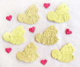 Recycled Ideas Favors plantable paper bees with min hearts