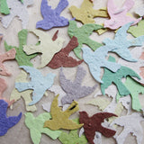 plantable seed paper confetti birds - pastels