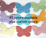 Recycled Ideas Favors variety color plantable paper butterflies